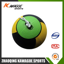 Inflatable rubber string ball