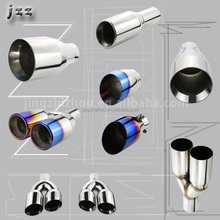 JZZ hot sale HKS auto engine parts manifold ss304 exhaust muffler tail tips for exhaust system in Guangzhou