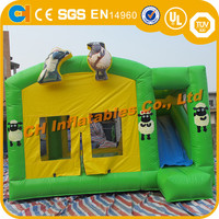 Shaun Sheep Infltable Bouncy Castle Combo, Sheep Inflatable Castle for Sale