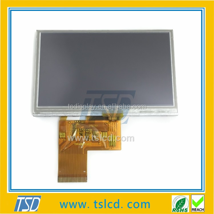 TSD TFT LCD 4.3 inch ,factory 480*272 lcd touch module with RGB interfacce
