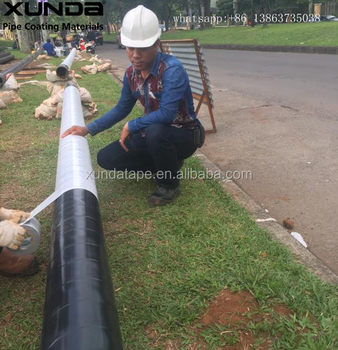 black and white color polyethylene butyl cold applied tape for wrapping gas pipe