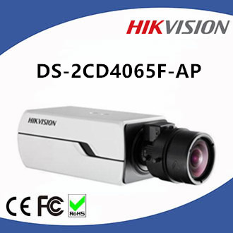DS-2CD4065F-AP Hikvision CCTV P-iris Box 6MP Network Camera