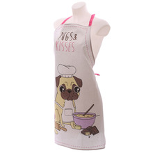 Cheap bulk wholesale christmas cotton kitchen aprons Custom printed 100% cotton bib apron kitchen cute chef apron