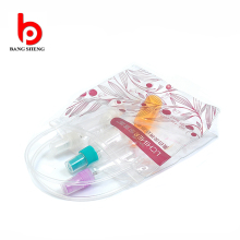 OEM clear plastic pvc bag with carrying handle pvc zipper pouch with handle