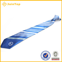Professional popular design manufacturer custom logo ties 100%necktie on clip