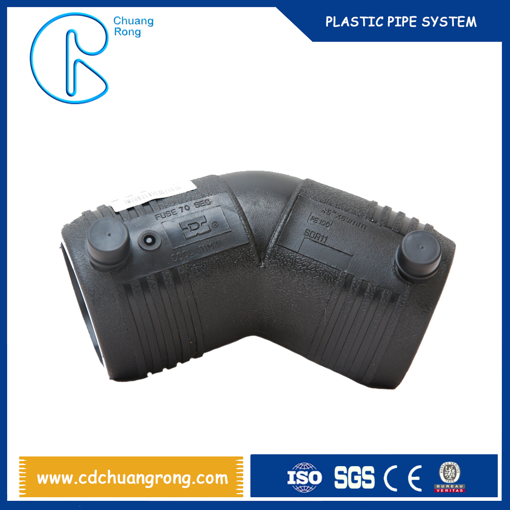 Mechanical Parts & Fabrication Services hdpe bend electrofusion pipe fittings elbow 45 degree