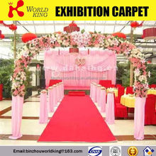 High quality branded glitter fabric for wedding carpet