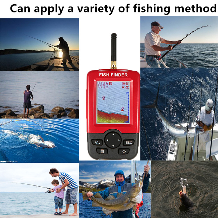 Rechargeable fish finder sonar transducer wireless sensor portable waterproof fish finder