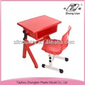 High quality plastic stable chair with tablet for sale