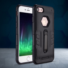 Mobile phone accessories new fit kickstand case for iphone 8,for iphone x case hybrid, for iphone 7 tpu pc case