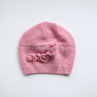 Hollow disk flowers knitting hat children autumn winter cotton baby knitted beanie