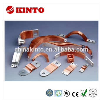 New design copper flexible laminated connector, press welded copper connector