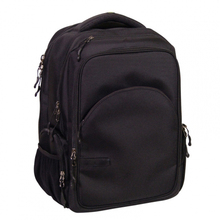 Black 1680D laptop backpack for business travelers