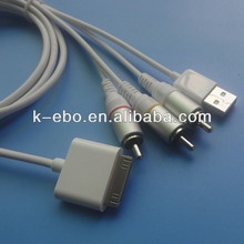 For iPhone 4 for iPad 3RCA Video TV Cable 1.8meter oem factory support ios 8 support all ios