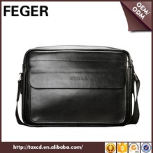cheap price FEGER classic cow leather messenger bag for men
