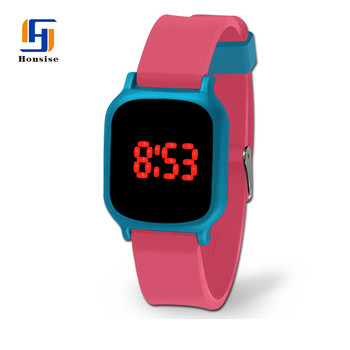 Fashion Charm Touch Screen LED Silicone Watch Band For Girls