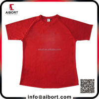 Fast delivery customized polyester plain red t shirts