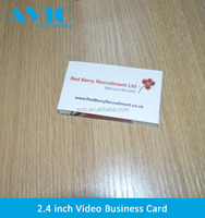 OEM 2.4 inch lcd video brochure card with 4GB memory USB for Holiday Party Gifts