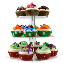 4 tier cupcake stand clear color acrylic cake stand