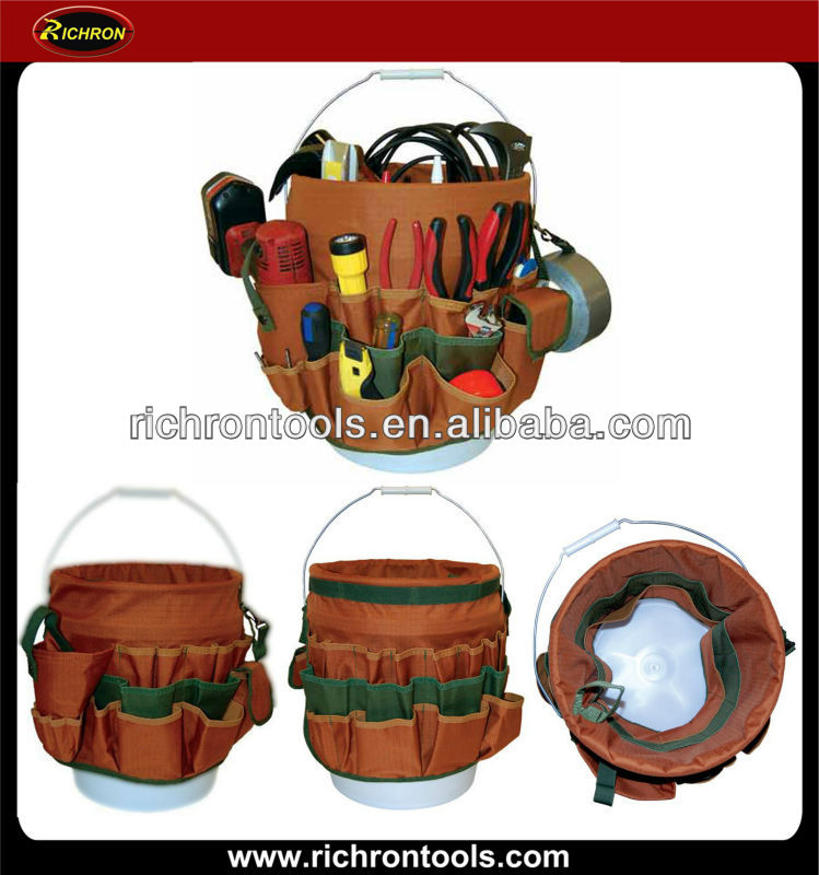 27 Pockets Bucket Organizer and Bucket Tool Bag