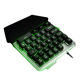 Portable Small one-hand gaming LED backlight Gamer keyboard