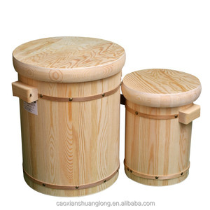 china supply new solid wood cheap small used wooden barrel/bucket