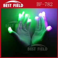 Rave Light Flashing Finger led white Gloves