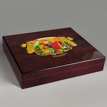 ROMEO y JULIA Wine Red Wooden Cigar Humidor Best Storage Box Mini Display Show Cigar Case W/ Humidifier Hygrometer