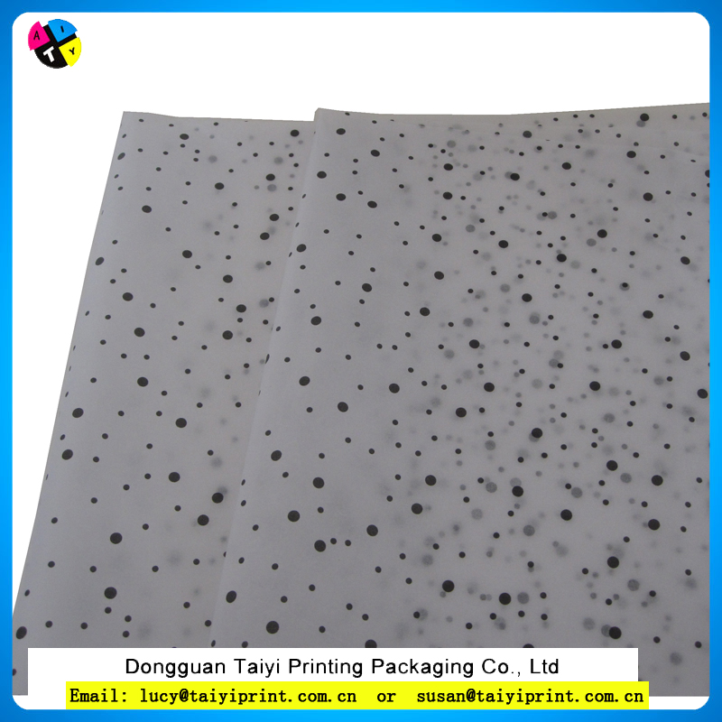 Customized printed dot pattern tissue paper