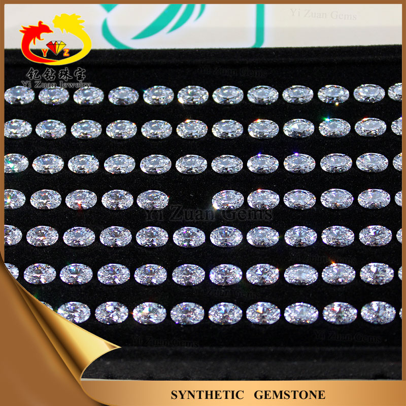 Wholesale Oval shape synthetic moissanite/Created Moissanite