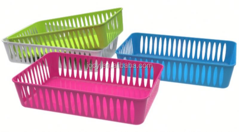 Cheap plastic baskets with rope handles