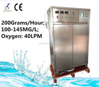 Multi-function high-tech 200G/H 100~145MG/L ozonated water machine/water fresh drink machines/ozone