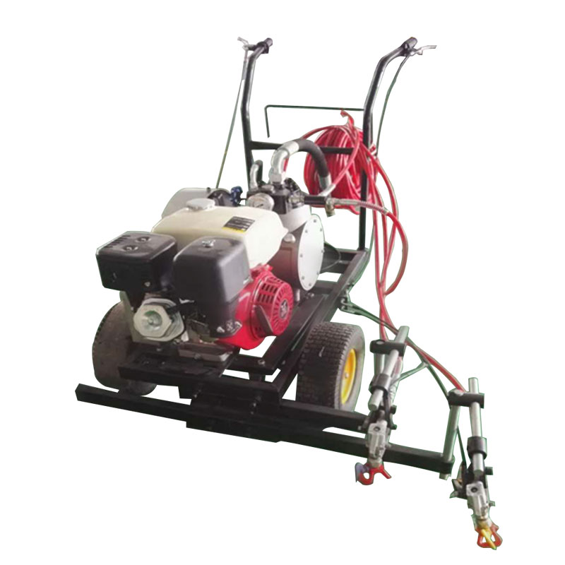 Road marking machine for running track