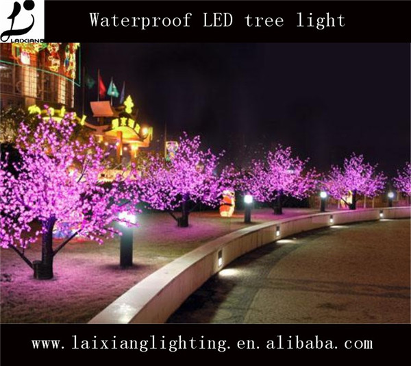 Holiady outdoor new year & Christmas Led flower Tree Light led solar branch tree light