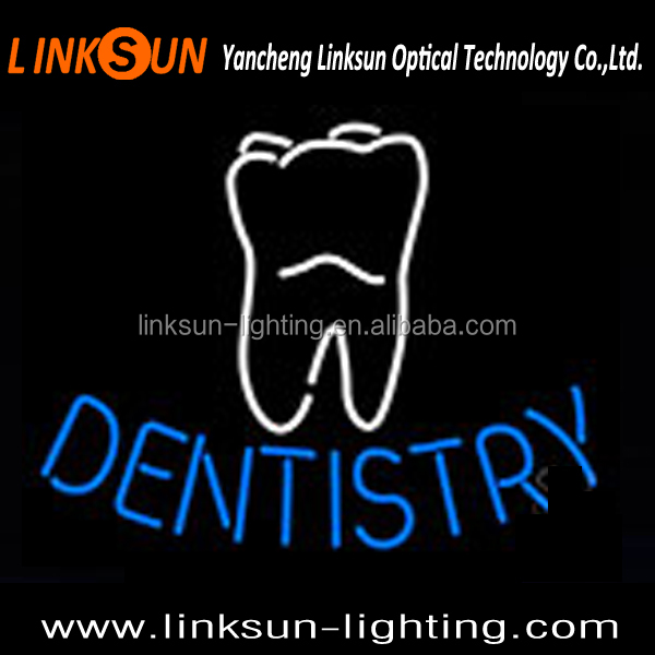 dentistry neon sign for tooth