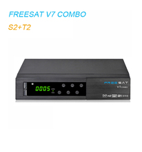 Freesat V7 Combo HD Combo DVB-S2 DVB-T2 Satellite Receiver with Powervu Biss support CCCam Newcamd Youtube Youporn WiFi 3G