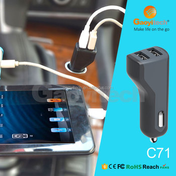 High speed dual port mini usb charger with 5v 4.8a smart phone car charger
