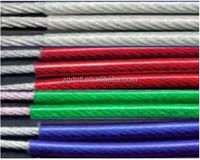 PVC/PE/Nylon coated galvanized steel wire rope 6*7+FC,7*7,6*19+FC