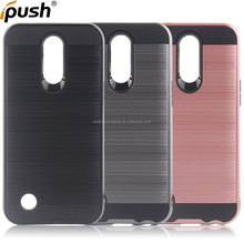 2 in 1 PC TPU Hybrid Shockproof Brushed Armor Case Cover For LG LV5/K10 2017/K20 Plus Protective Combo Armor Defender Case