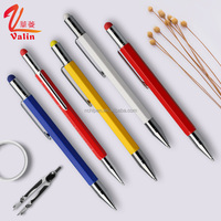 3 in 1 metal mechanical pencil with ruler and stylus