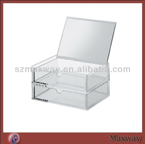 Transparent 2 Tiers Cubical High Grade Drawer Style Acrylic/Perspex Napkin Box/Case