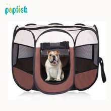 Portable foldable outdoor pet travel bag dog cat playpen carry bag with mesh cover