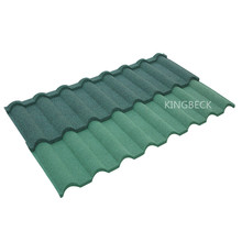 high corrosion Zn-Al steel plate Material and stone coated metal roofing tiles