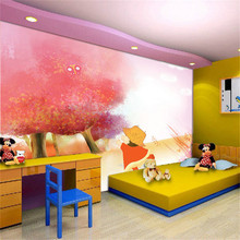 Hot selling cartoon characters wallpaper for kids / children room wall decor