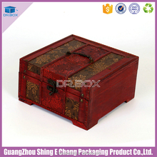 Wholesales jewelry storage gift box cardboard wooden packing box