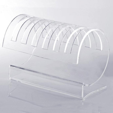 6 Slots Curved Clear Acrylic Plexiglass CD DVD Holder