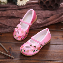 FC1553 children cloth shoes embroidered baby shoes non-slip breathable comfortable flowers girls shoes