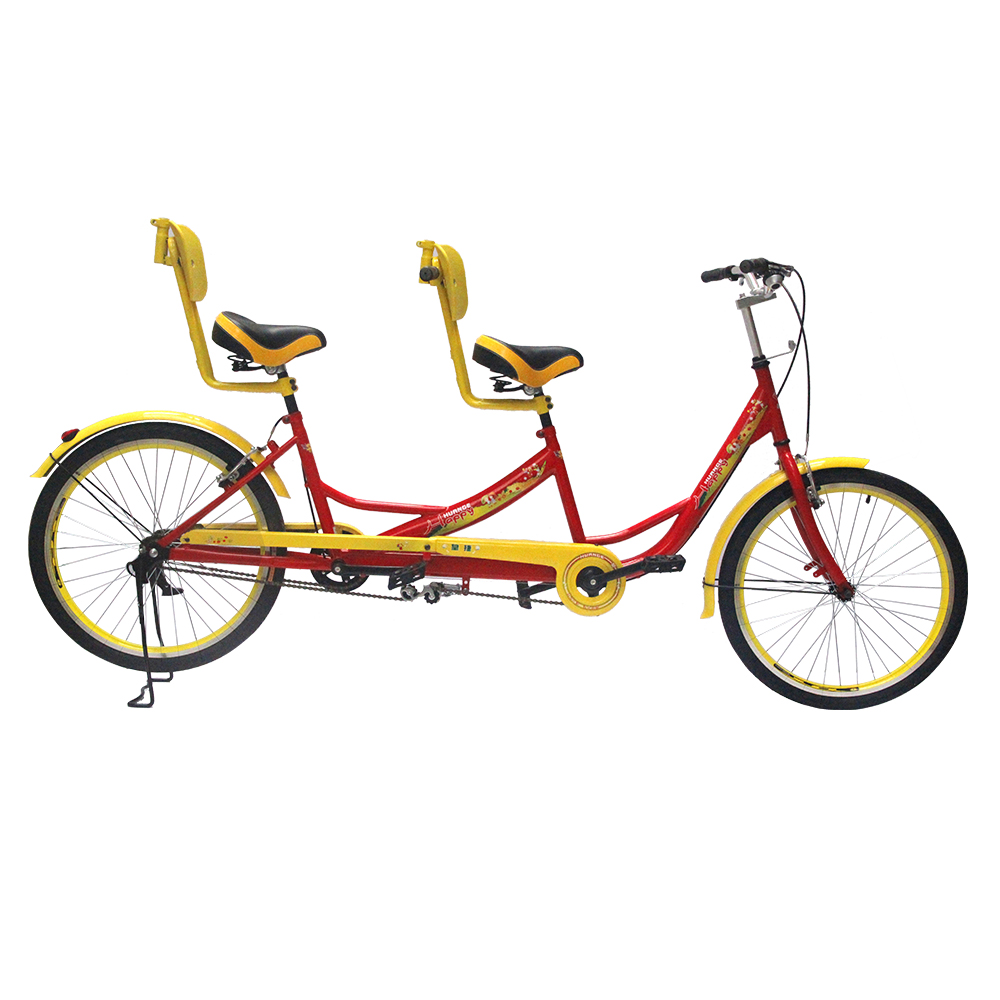 New style two seat bicycle tandem bike two wheels sightseeing bicycle for 2 people