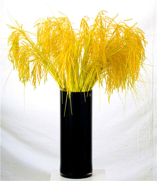 Wholesale beautiful artificial rice fruit yellow decorative artificial fruit
