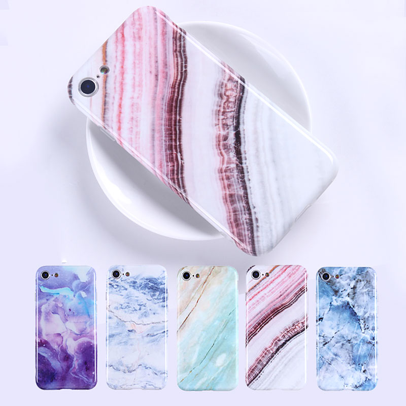 Wholesale Granite Scrub Marble Stone Painted Silicone Phone Case For iPhone X 8 8 plus 7 7 plus